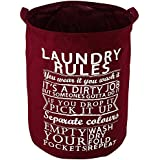 HOKIPO® 63-Litre 'Laundry Rules' Folding Round Laundry Bag