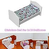 ⭐Webla⭐ Mini Miniaturen Baby Bett Möbel DIY Für 1:12 Home Miniaturen Puppen Spielzeug Simulation Kind Schmücken Kreative Geschenke Für Kind 14X8X6,2 Cm