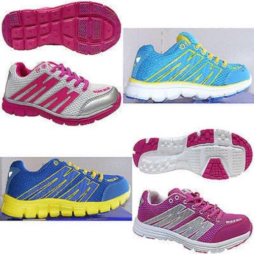 More Mile Enfants junior Oslo Courir Chaussures de sport Pink / White