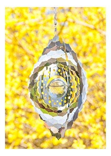 dsnetz Windspiel Kronenchakra ø 25 cm aus Edelstahl | Wohn-Dekoration Mobile Kronen Chakra Sahasrara Spirituelles Symbol | Feng Shui Esoterik Geschenke günstig kaufen