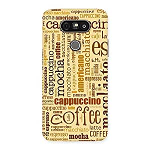 Neo World Coffee Lover Back Case Cover for LG G5
