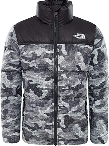THE NORTH FACE Nuptse Down Jacket Boys TNF Black Textured Camo Print Kindergröße S | 125-135 2018 Funktionsjacke - Jacket Boys Face Down North
