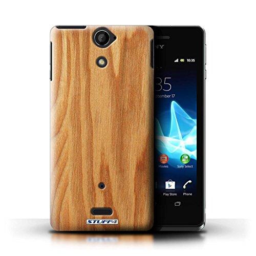 KOBALT® Hülle Case für Sony Xperia V/LT25i | Treibholz Entwurf | Holz/Holzmaserung Muster Kollektion Eiche