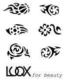 LUQX Tribal Schablone Hair Tattoo (1)