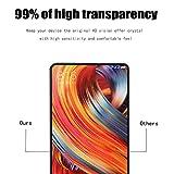 Xiaomi Mi Mix 2 Protection écran Verre Trempé, MiSha (2 pièces) 9H La Dureté Du Verre Trempé Anti-Rayure Haute Definition La Sensibilité élevée 2.5D Tour Edge revêtement oléophobique Anti-empreintes Anti-poussière Anti-huile Facile à installer Sans Bulle Tempered Glass Screen Protector pour Xiaomi Mi Mix 2