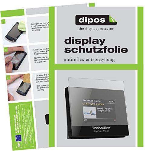 TechniSat DigitRadio 110 IR Schutzfolie - 3x dipos Displayschutzfolie Folie matt