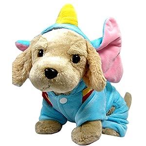 PAWZ Road Vêtements pour chien Costume de Noël Halloween pour chien chat animal de compagnie Éléphant Conception Manteau doux chaud Cape Mignon XS