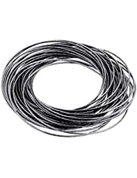 The Jewelbox Trendy Western Oxidized Rhodium Plated Slim Bangle Cluster Of 12 For Women