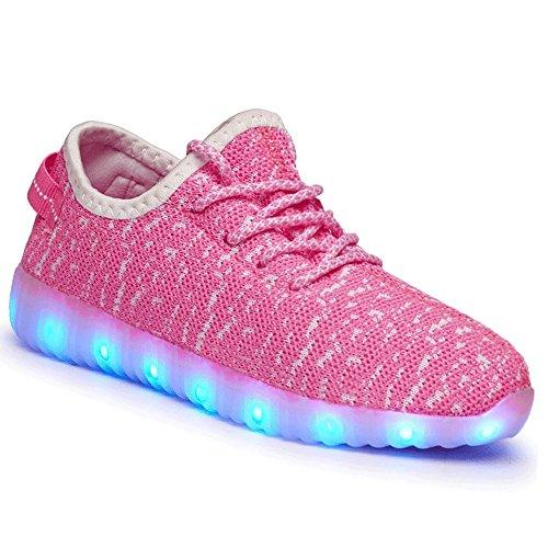 Canvalite LED Flashing Light Shoes Luminous Women Lace Up USB Charging Men...