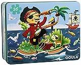 Goula - 53431 - Puzzle En Bois - Pirate - 35 Pièces
