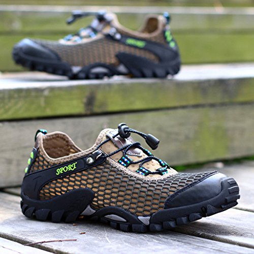 Eagsouni® Herren Sommer Beiläufig Atmungsaktiv Outdoor Sport Trekking Wanderschuhe Khaki