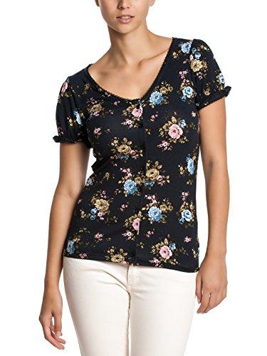 Vive Maria Damen T-Shirt Majestic Rose Cardigan allover Blau (Dunkelblau)