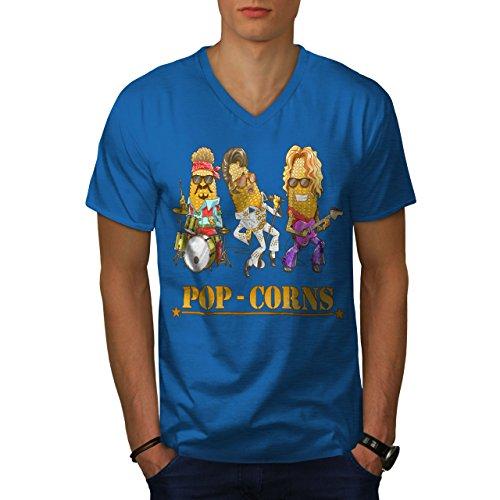 wellcoda Pop Mais Idols Männer M V-Ausschnitt T-Shirt