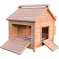 FeelGoodUK Hühnerstall Hen House Geflügel Ark Home Nistkasten Coup L - Slide Out Reinigung Fach & Innovative 4 Position Dachlüfter (Coop Haus L)