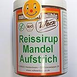 Bio Reissirup Mandel Aufstrich 300g - Werz Naturkorn Mühle - AB 30,- EURO VERSANDKOSTENFREI in D!
