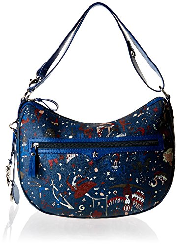 Piero Guidi Magic Circus Borsa a Tracolla, 36 cm, Blu di Prussia