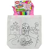Childrens Colour Your Own Tote Bag With Felt Tips - Day Dreaming Princess