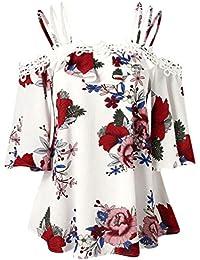 b80dca38e97ef GongzhuMM Blouse Femmes Grande Taille Imprimé Tunique Femmes Chic Chemisier  Trapèze épaules Dénudées Chemise Femmes Sexy Tops…