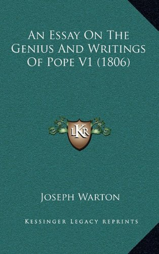 An Essay on the Genius and Writings of Pope V1 (1806)