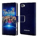 Head Case Designs Offizielle WWE Frauen Gruppen Poster 2018 Evolution Brieftasche Handyhülle aus Leder für Sony Xperia Z5 Compact