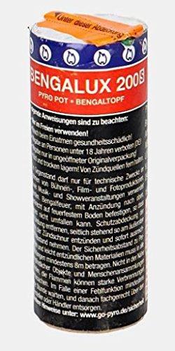 PYROWEB.DE Bengalux 200S - Rauch- Bengaltopf/Pyropot - rot