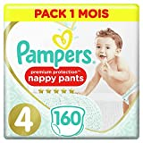 Pampers Premium Protection Pants T4, 160 Couches-Culottes, Pack 1 Mois...