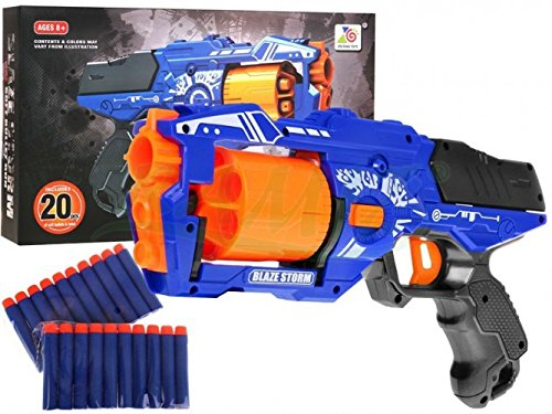 Blaze storm - grande blaster fucile automatico giocattolo - blu