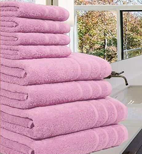 4917062e3d Luxuriöses Handtuch-Set aus 100 % luxuriöser, ägyptischer Baumwolle,8Stück,  550 gm²
