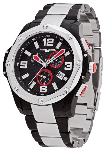 Jorg Gray - JG9100-13 - Montre Homme - Quartz Chronographe - Bracelet Acier Inoxydable Noir