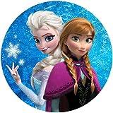 Tortenaufleger Elsa & Anna 20 cm Ø/Lieferung 2 bis 5 Werktage