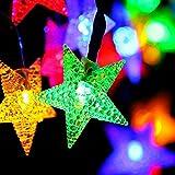 Solarlichtsaite fünf-spitzes Sternlicht Schnur 8 Funktion bunte helle Schnur...