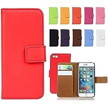Fancy Cherry, custodie a libro di lusso, in vera pelle, con porta carte di credito, per Apple iPhone 4, 4S, iPhone 5, 5S, 5C, iPhone 6, 6 Plus, iPhone 7, 7 Plus, iPhone 8, 8 Plus, iPhone X, alta qualità, donna, Purple