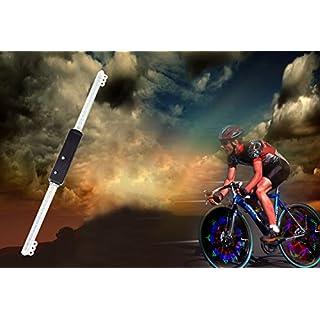 AMTOP Rechargeable 64 LED Bicycle Bike Programmable Wheel Flash Light DIY Designs Patterns Rim Lighting RGB (64 LED) (64 Leds)