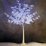 Arbre lumineux feuilles d'érable 104 LED blanches lumière fixe hauteur 120 cm