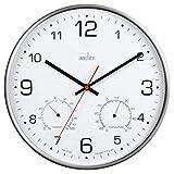 Acctim 29148 Komfort - Reloj de pared (metal, termómetro e higrómetro).