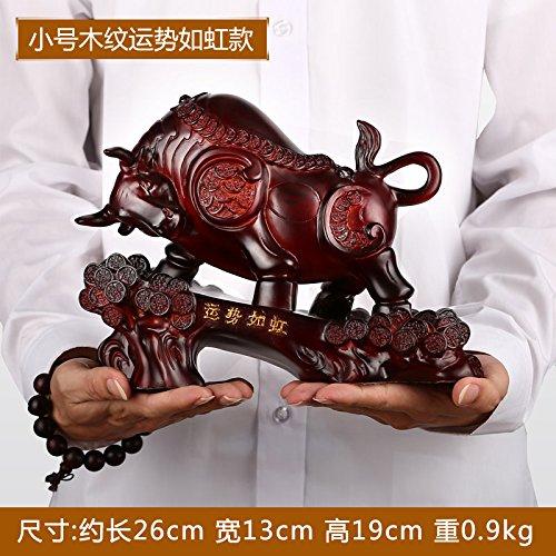 BSQDJ-Cow figurine/ornamenti/Toro/impresa ufficio aperto regali aziendali/artigianato/home decor/ornamenti di resina,piccola a grana di legno
