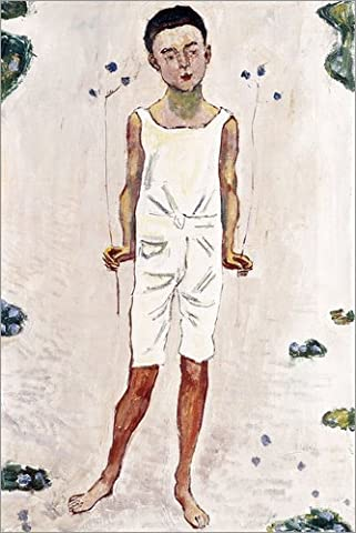 Alu Dibond 40 x 60 cm: Charmed boy by Ferdinand Hodler / Bridgeman Images