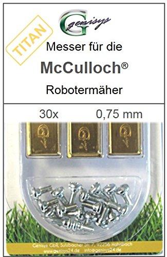 30 TITAN Messer Ersatzmesser Klingen 0,75mm für McCulloch Rob R600 R1000 Mc Culloch