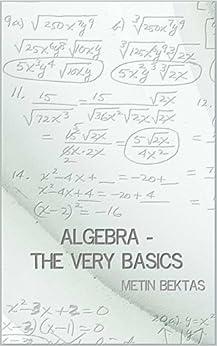 Algebra - The Very Basics (English Edition)