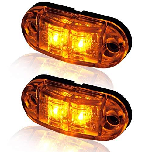 VIGORFLYRUN PARTS LTD 4pcs 2 LED Luci di Posizione Laterali LED Luci di Indicatore Luce di Sicurezza Impermeabile per 12V 24V Rimorchio Camion Furgone Rimorchi Auto Trattore Camper Rosso