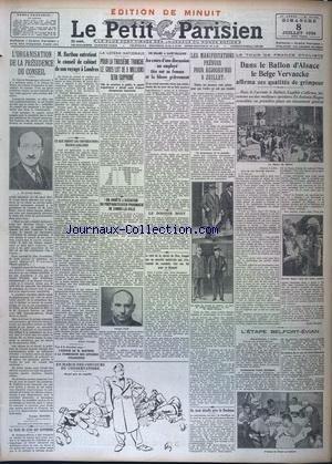 PARISIEN LIBERE EDITION DE MINUIT (LE) [No 20946] du 08/11/1934