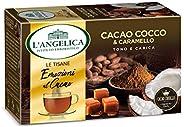 L'Angelica, Le Tisane Emozioni al Cacao, Tisana Funzionale con il Pregiato Cacao Criollo, Cocco e Caramell