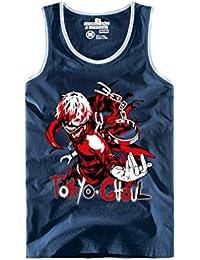 Bromeo Tokyo Ghoul Anime Sleeveless Sin mangas Vest Camisetas interiores Chaleco