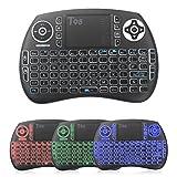 QcoQce Mini teclado inalámbrico T98 QWERTY?tiene Ñ?con touchpad 92 teclas y batería de iones de litio 2.4Ghz Ideal para Smart TV reproductor mini-ordenador tablet consola de juegos y TV BOX ?Colorido?