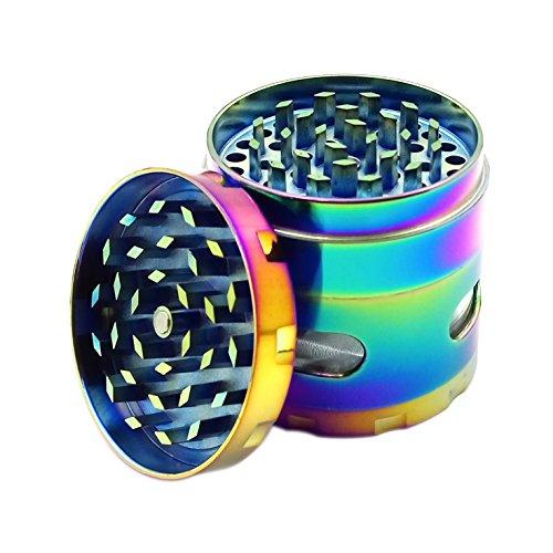 Engshwn New Design Premium Zink Legierung Bunte Pollen Gewürz Tabak Kraut Brecher Schleifer mit kleinen Windows 4 teilig 55 mm - Zimt Finish