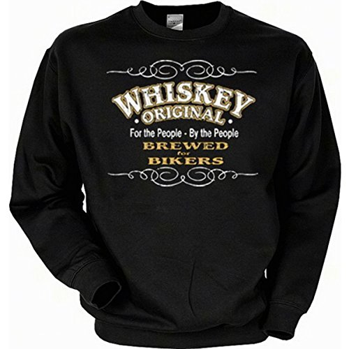 Whiskey - brewed for bikers Sweatshirt Gr M in schwarz (Biker Halloween Kostüme Für Hunde)