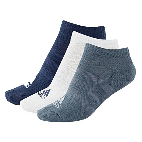 adidas 3S Performance Half Cushioned No-Show (3 Pairs Pack) Socken, Noble Indigo s18/White/Raw Steel s18, 4346 (Pack White 3-pair)
