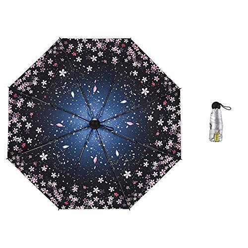 LYJZH Taschenschirm - Reise/Golfschirm, leicht stabil Kompakt Schirm für Reisen & Business 50{6bb328cd8602acf78968d112a1d81b5feee8e64b82b4dd0842b3aaea843aeb1d} UV-Schutz Regenschirmfarbe 95cm