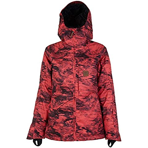 Rip Curl Harmony Gum Printed Jkt, Color: Cayenne, Size: