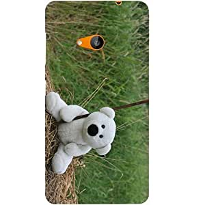 Casotec Teddy Bear Design Hard Back Case Cover for Microsoft Lumia 535
